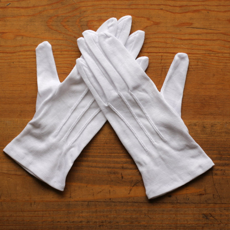 White Cotton Dress Gloves   GL-114