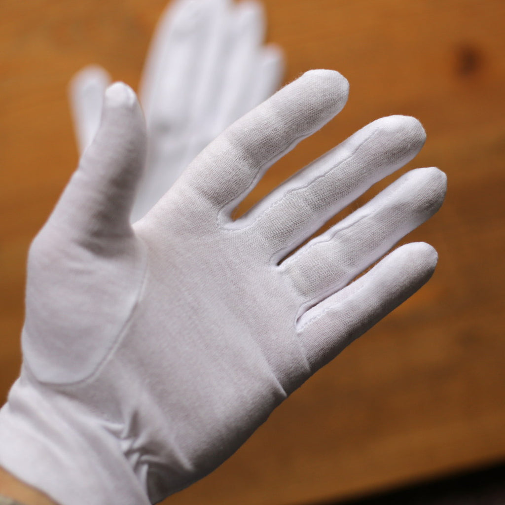 White Cotton Dress Gloves