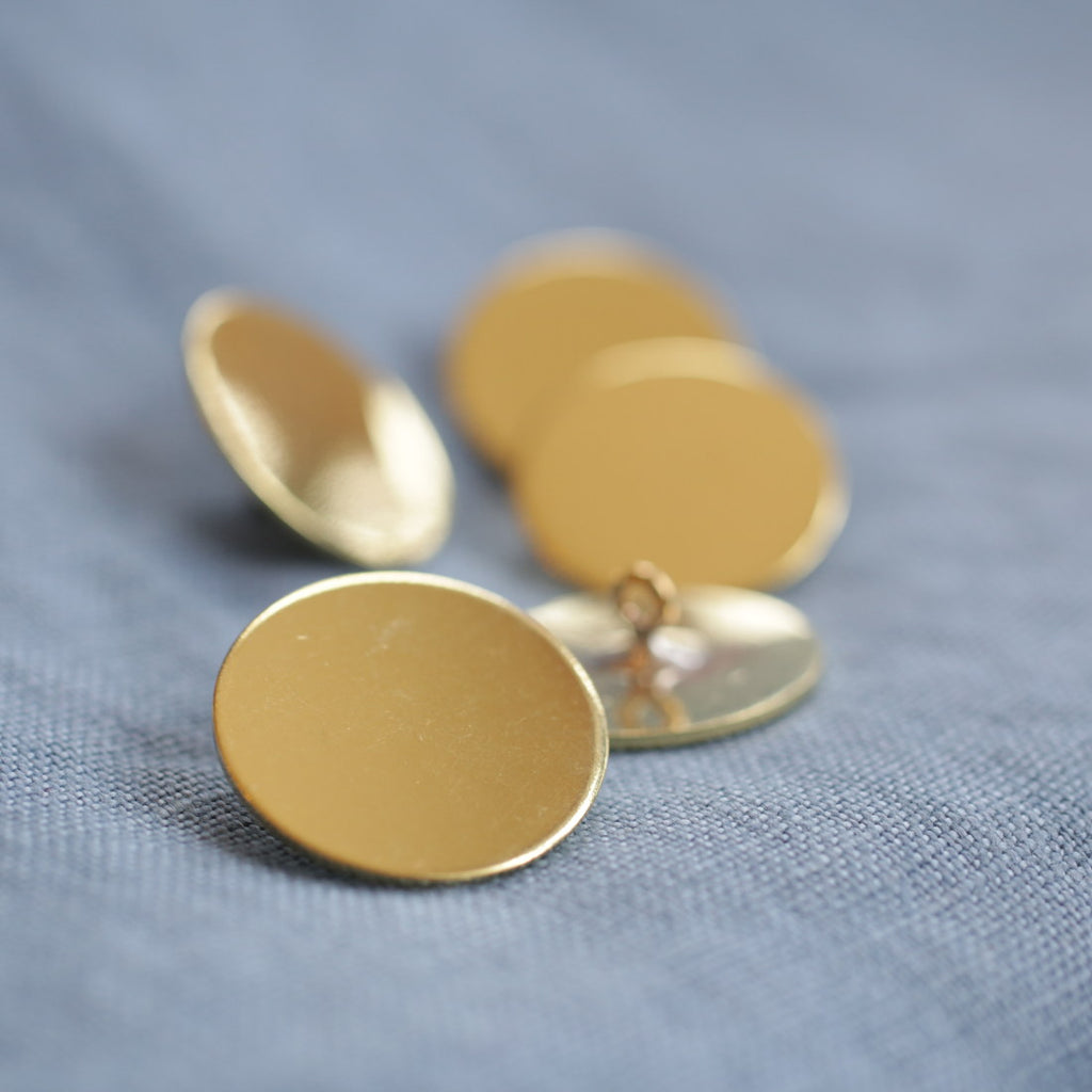 Flat Brass Buttons Large B-1204