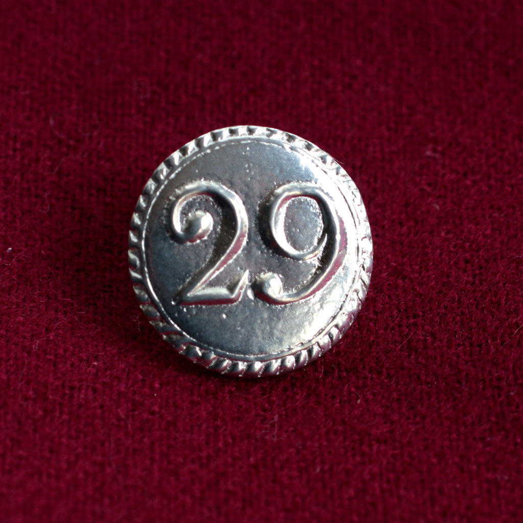 "7/8"" 29th Regiment of Foot Buttons (British) 1765-1815"