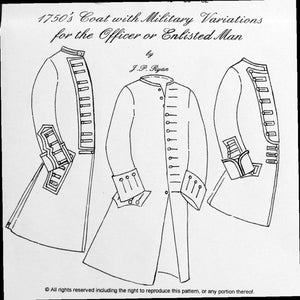 JR 1750's Men's Coat Pattern