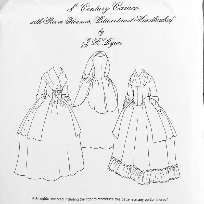 JR 18th Century Caraco Jacket Pattern