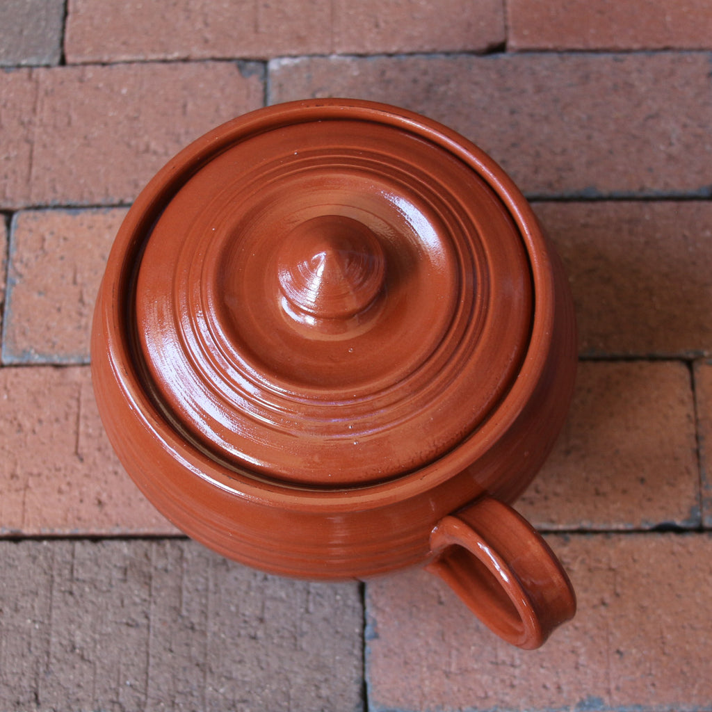 Redware Lidded Cooking Pot