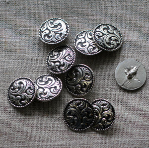 Paisley Button Med Pack of 10
