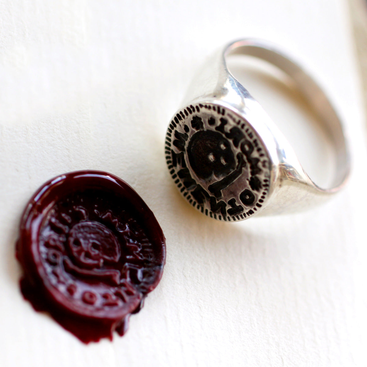 Memento Mori Signet Ring Townsends