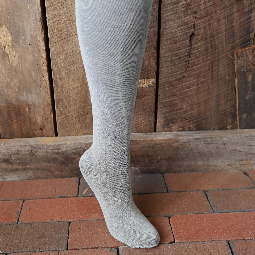 Plain Gray Silk Stockings