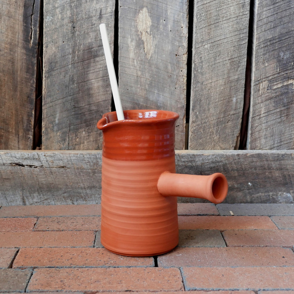 Redware Chocolate Pot