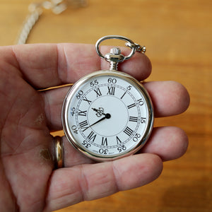Nickel Plated Pocket Watch