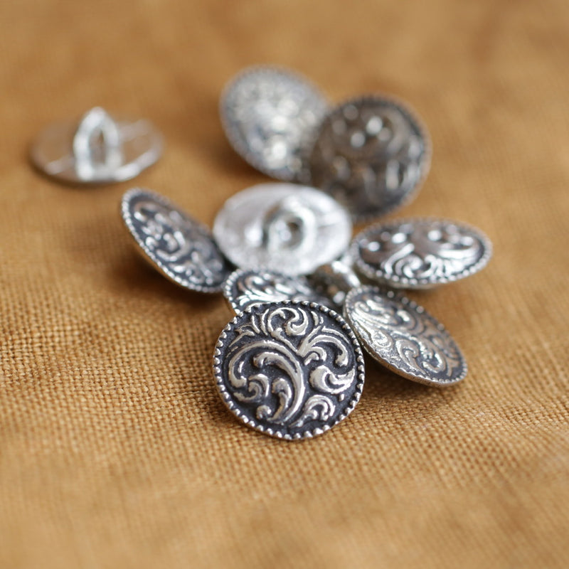 Paisley Button Small Pkg/10