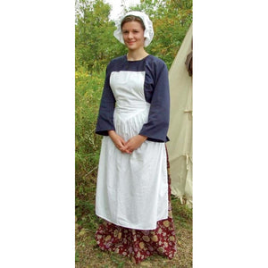 Pinner Apron in White Muslin   AP-111