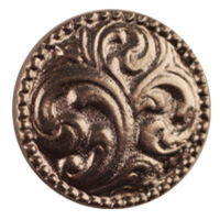 Paisley Button Small Pkg/10 B-1166
