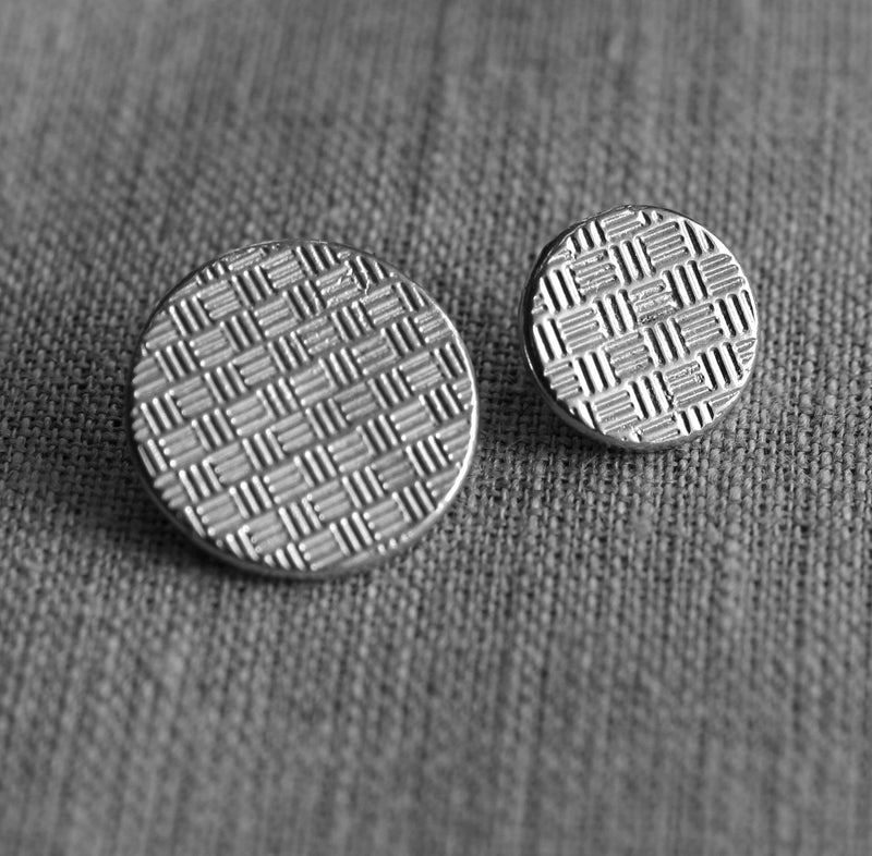 Basket-Weave Button  Pack of Ten
