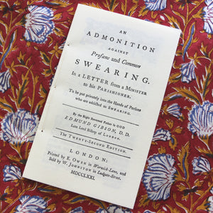 An Admonition Against Profane and Common Swearing