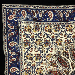 Block Printed Cotton Kerchief  S-3143