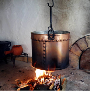 Riveted Copper Kettle C-4515