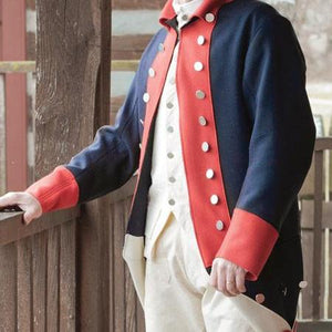Mens Costume Rev War Coat