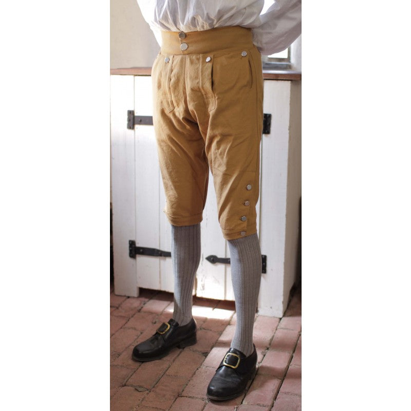 Fall Front Knee Breeches in Colored Cotton Canvas    CP-128