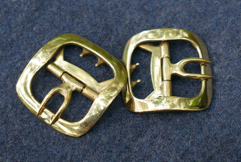 Men's Shoe Buckles Plain Brass   CS-926