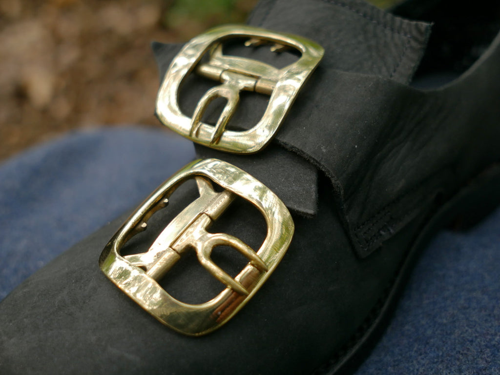 Men's Shoe Buckles Plain Brass