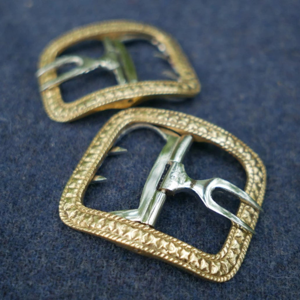 Men's Shoe Buckles Fancy Brass