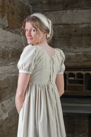 19th Century Empire Dress  Solid Cotton - ED-189