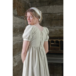 19th Century Empire Dress  Printed or Striped Cotton - FD-189