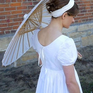 19th Century Empire Dress in Solid Cotton