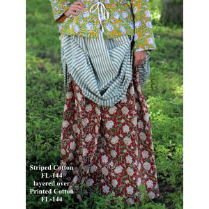 Drawstring Skirt - Printed   FL-144