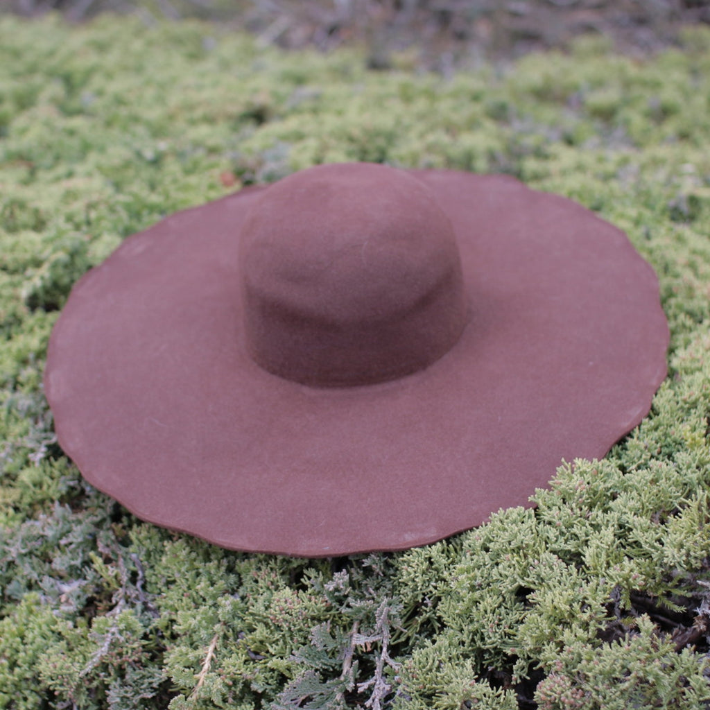 Fur Felt Hat Blank - Brown  H-2402