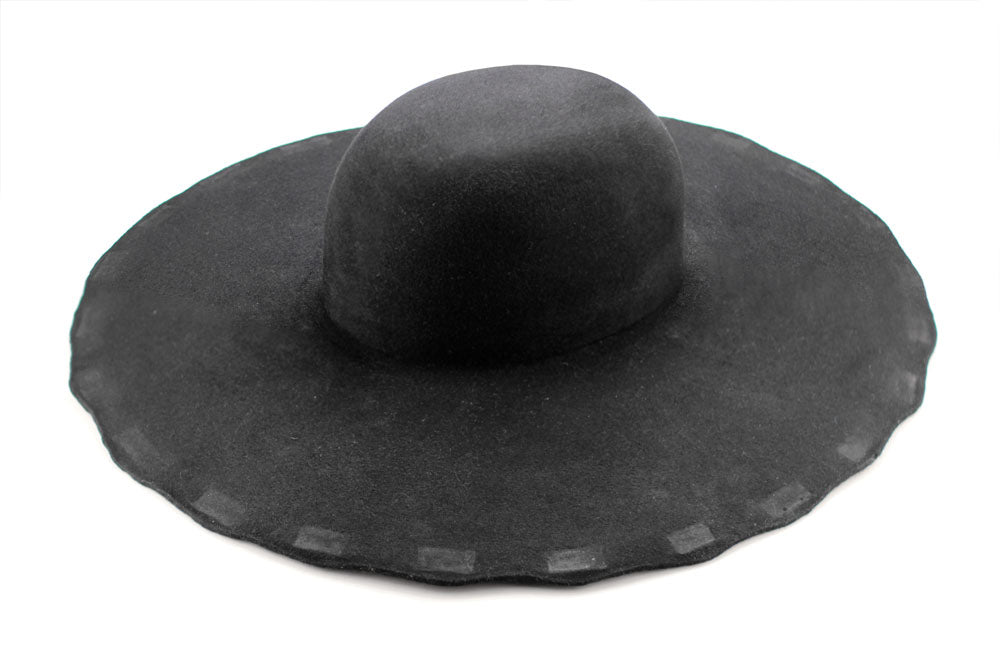 Fur Felt Hat Blank - Black