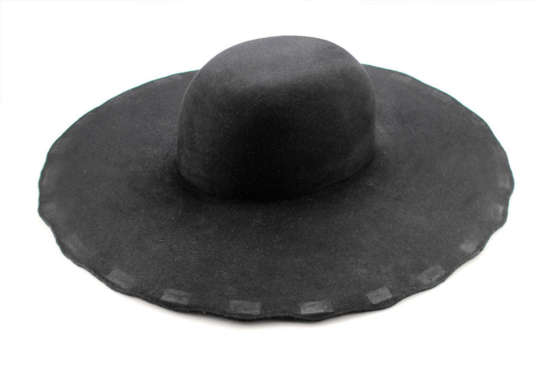 Fur Felt Hat Blank - Black  H-2401