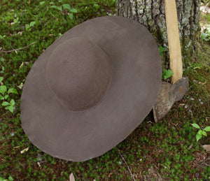 Brown Standard Wool Felt Hat Blank (Unlined)
