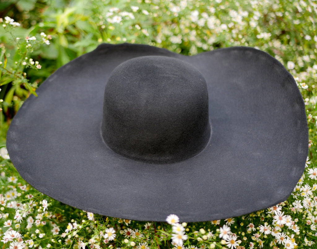 Black Heavy Wool Felt Hat Blank (Unlined) HW-913