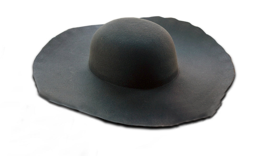 Black Heavy Wool Felt Hat Blank (Lined)