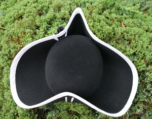 Black Heavy Wool Felt Tricorn HW-916