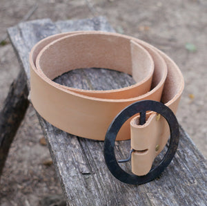 Leather Belt with Forged Buckle   LB-172