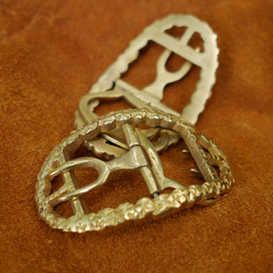 Ladies' Shoe Buckles - Fancy Brass   FB-924