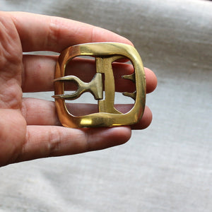 Ladies' Plain Shoe Buckles in Brass