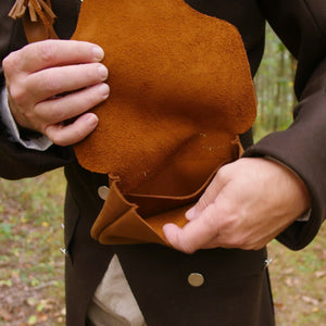 Leather Hunting Pouch   LB-709