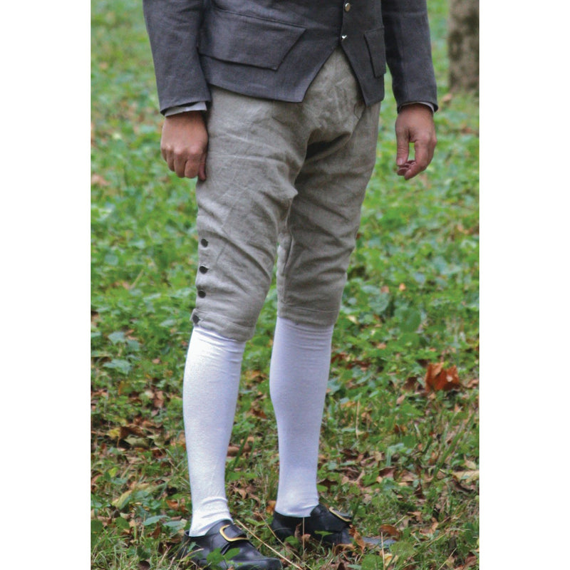 Fall Front Knee Breeches in Linen    LP-128