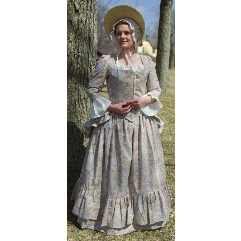 Ladies Cotton Polonaise with Flounced Skirt