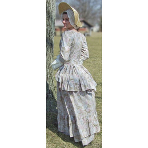 Ladies Cotton Polonaise with Flounced Skirt LP-262