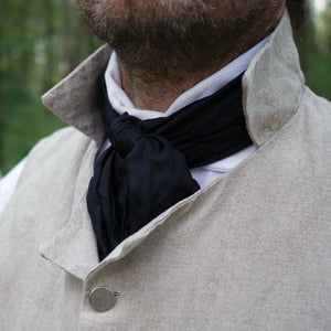 Men's Silk Cravat Black  SC-369