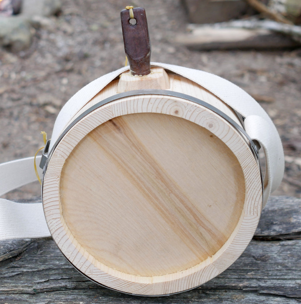 Metal Banded Wooden Canteen   WC-769