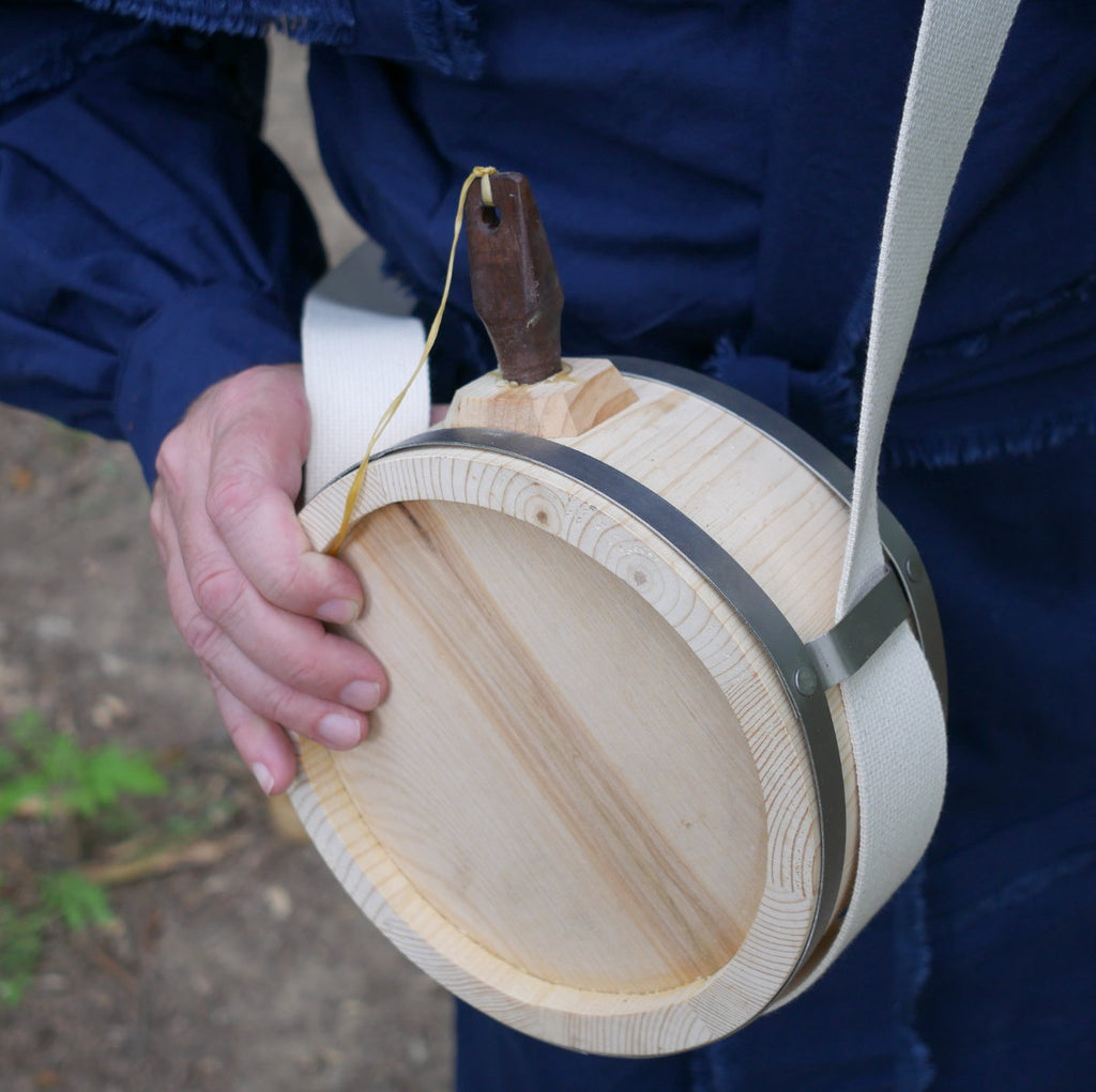 Metal Banded Wooden Canteen