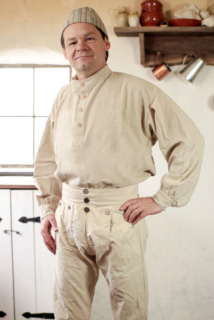 19th Century Trade Shirt in Osnaburg   OH-131