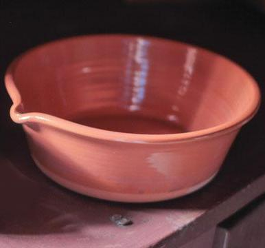 Redware Milk pan  S-4136