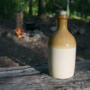 Stoneware Beer Bottle