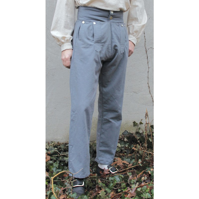 Fall Front Trousers in Colored Cotton Canvas    PC-125