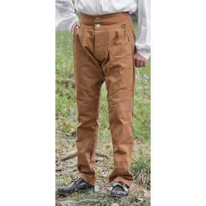 Fly Front Trousers in Colored Canvas   PC-140